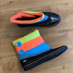 SUPER CUTE Colorful LACOSTE bundle shine Boots 9.5